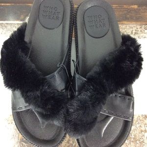 Black Sandals NWT Size 9